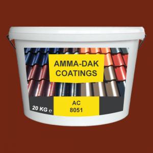 Natuurlijk rood dakpannen coating AC 8051 - Amma Dakcoating
