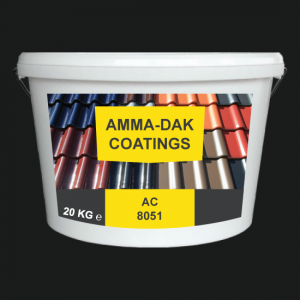 Antraciet dakpannen coating AC 8051 - Amma Dakcoating