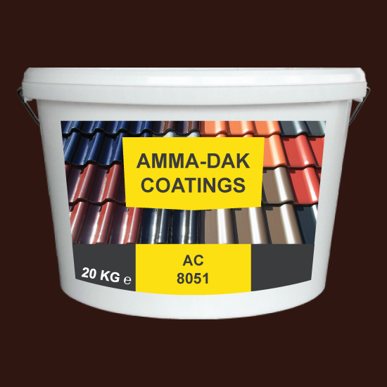 Donkerbruin dakpannen coating AC 8051 - Amma Dakcoating