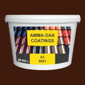 Kastanjebruin dakpannen coating AC 8051 - Amma Dakcoating