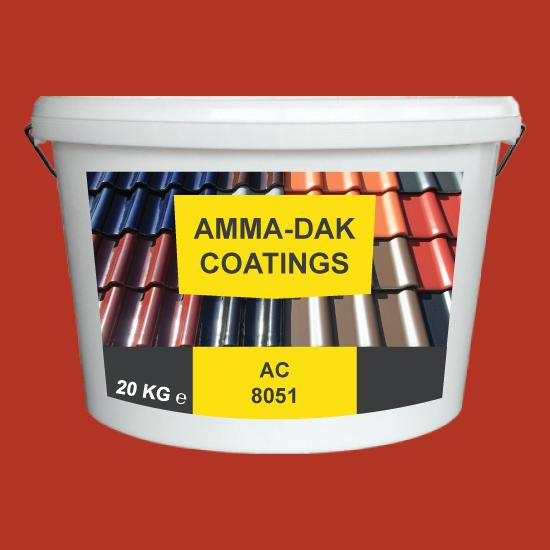 Klassiek Rood dakpannen coating AC 8051 - Amma Dakcoating