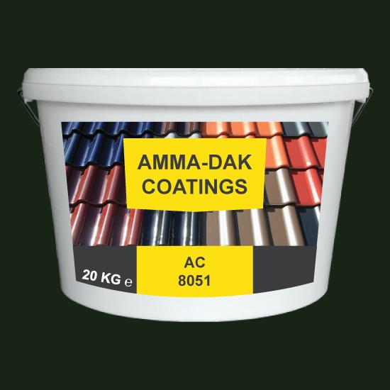 Smaragd groen dakpannen coating AC 8051 - Amma Dakcoating
